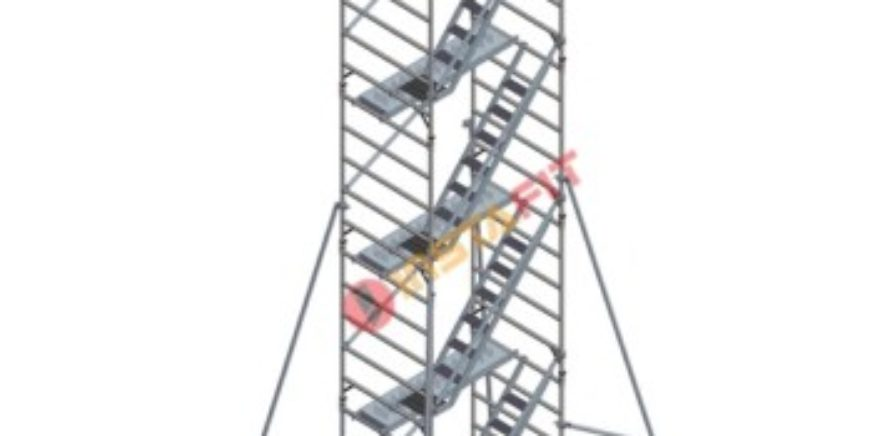 Double Width Aluminium Scaffolding With Stairway