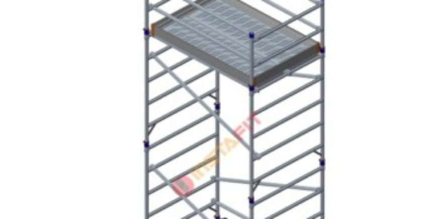 Double Width Aluminium Scaffolding Without Stairway